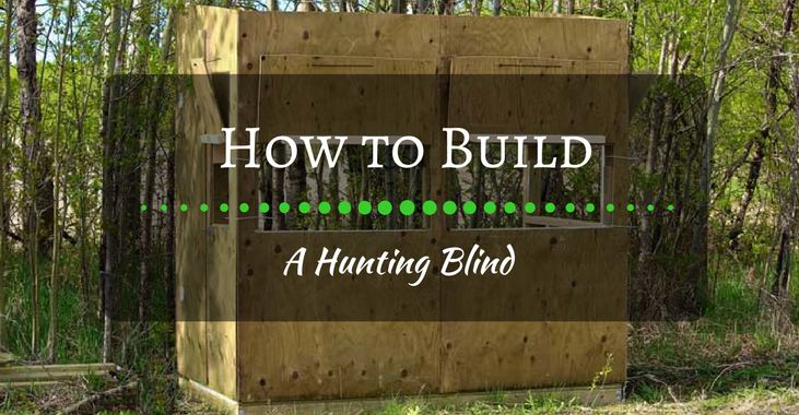 How To Build A Hunting Blind And Save Hundreds Of Bucks Archery