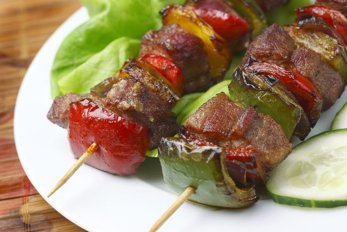 Grilled Deer Heart Kabobs