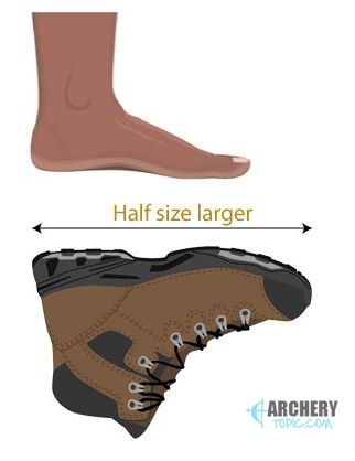 half size larger recommended