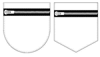 zipper pockets