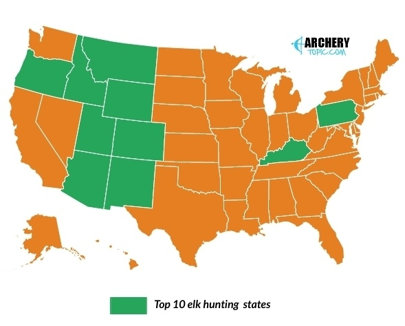 top 10 elk hunting states