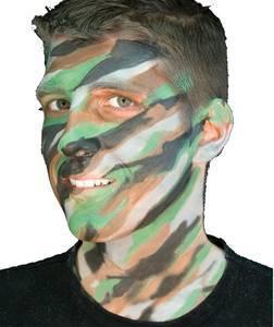 rambo camo face paint