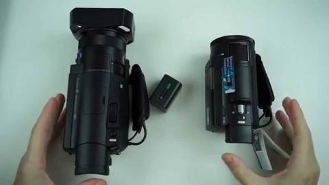 sony ax100 vs handycam size
