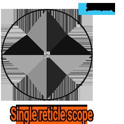 single reticle scope